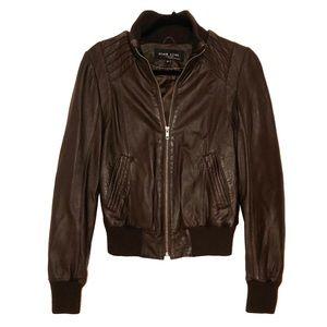 100% leather jacket/bomber